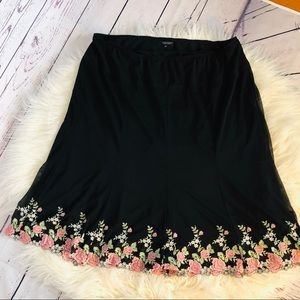 3 for $25 Karen Kane Skirt with Floral Appliqué
